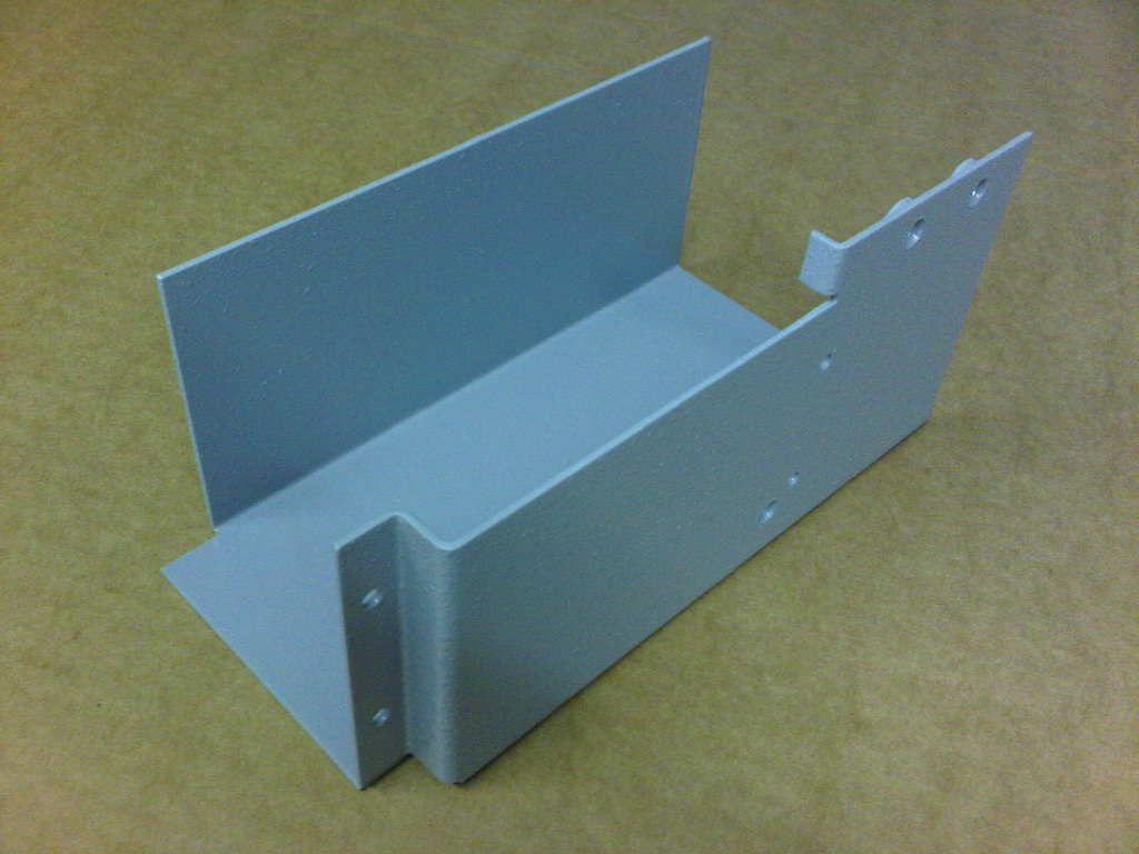 Aluminium Bracket After Cnc Folding And Powder Coating