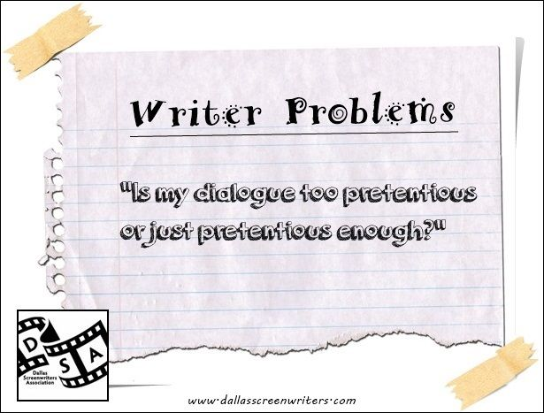 pretentious writing