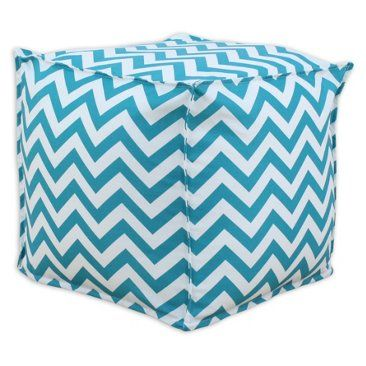 Check out this item at One Kings Lane! Danielle Pouf, Turquoise