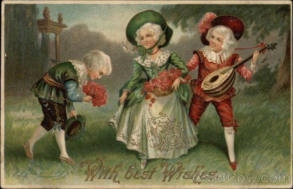 Vintage nice dressed children