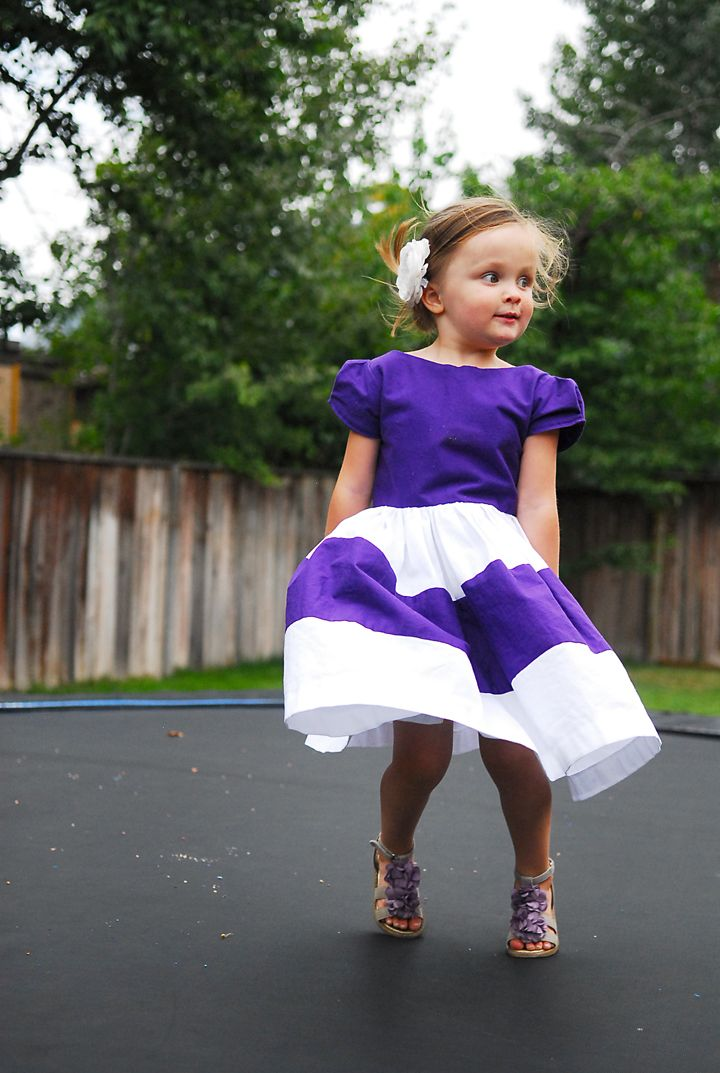 The Color Block Dress {Free PDF Pattern 12m-6Y} - Shwin and Shwin
