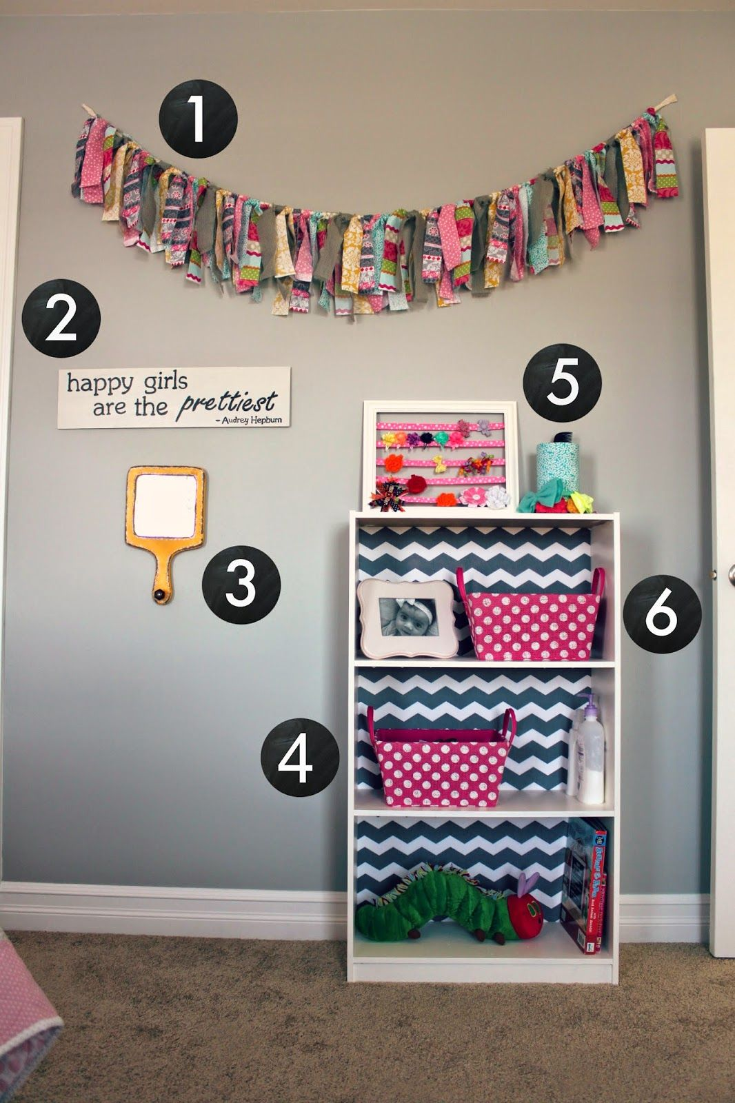 All things diy room reveal girl 39 s bedroom on a budget for Handmade room decoration items