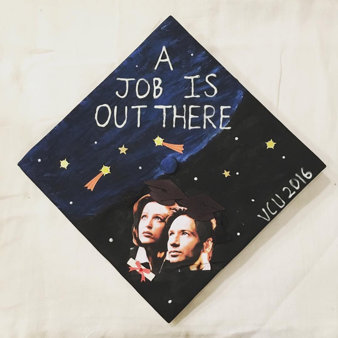 X Files Themed Graduation Cap Decoration Idea A Job Is