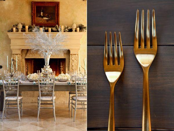 Golden cutlery