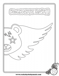 rockabye baby lullaby renditions of aerosmith coloring page