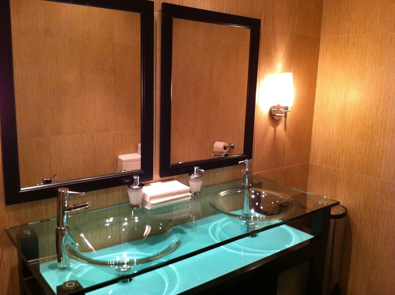 Glass Bathroom Sinks Countertops