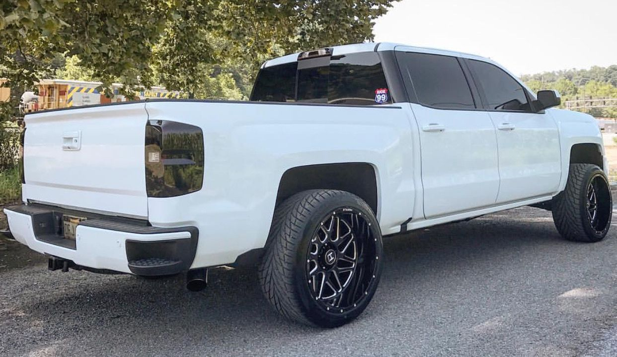 White Blacked Out Silverado Trucks I Like And Truck Stuff