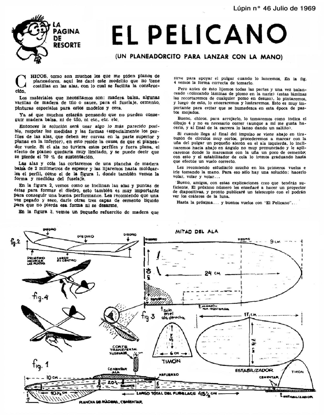 Planitos de Lúpin - Planeador el Pelícano