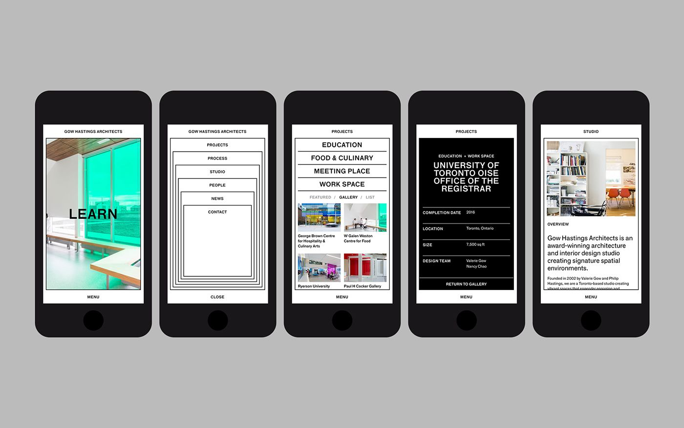 Gow Hastings Architects Website On Behance