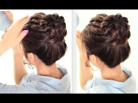 ★STARBURST BRAIDED BUN HAIRSTYLE | CUTE SUMMER BRAIDS HAIRSTYLES