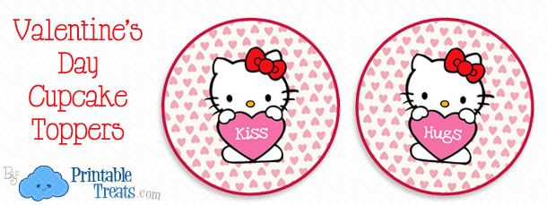 Free hello kitty valentines day cupcake toppers hello kitty free hello kitty valentines day cupcake toppers maxwellsz
