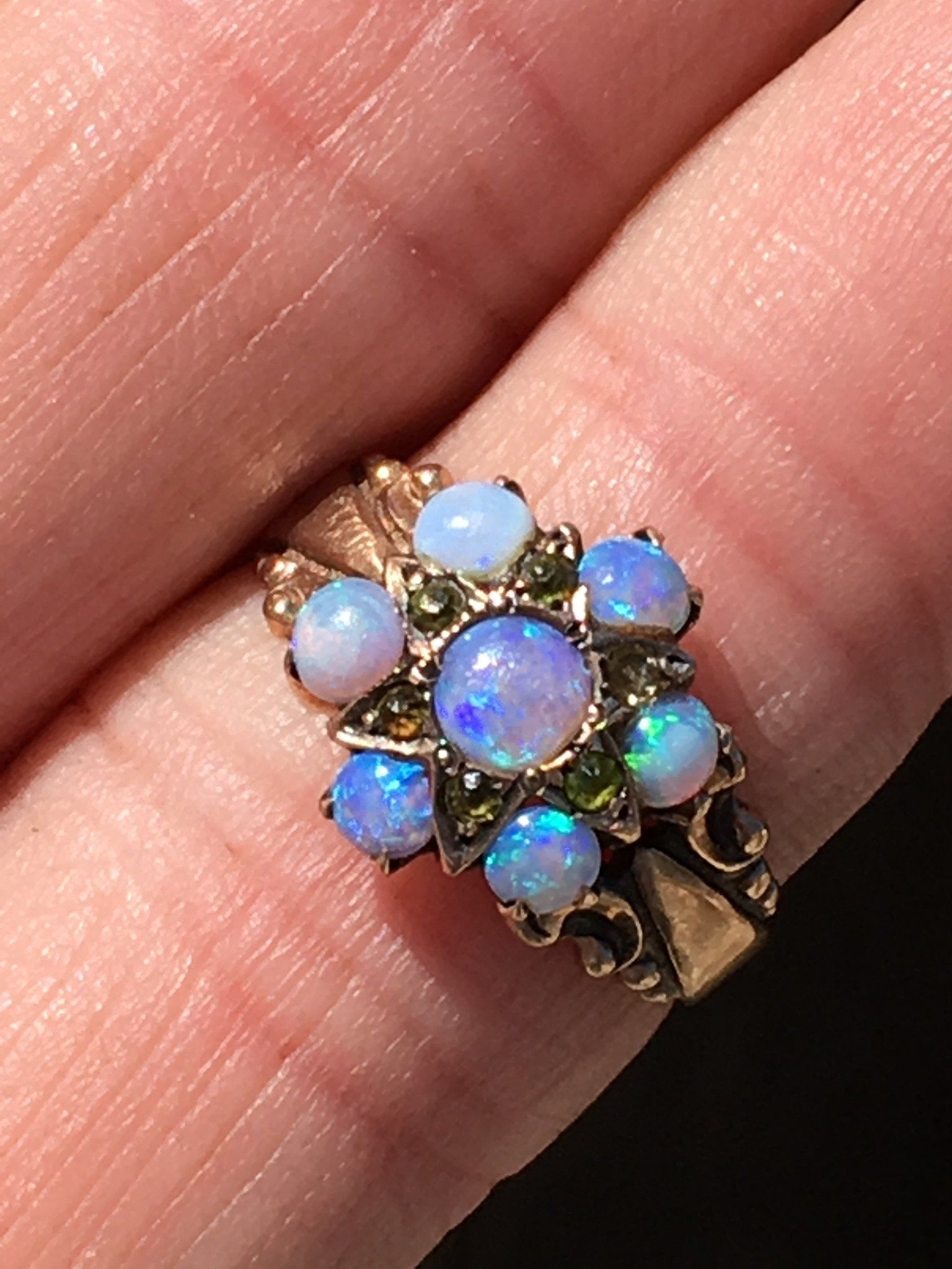 Opal Ring Victorian Era 10K Gold Yourgreatfinds