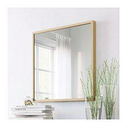 ikea stave miroir effet ch ne blanchi miroir avec pellicule anti clats au dos salle. Black Bedroom Furniture Sets. Home Design Ideas