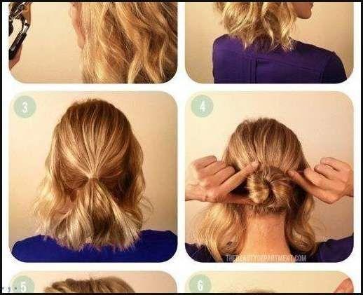Diy Dutt Für Kurze Haare Neue Frisur Einfache Frisuren