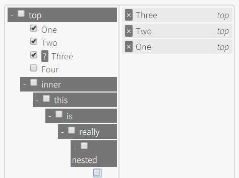 jQuery Plugin For Multi-Selectable Tree Structure - Tree