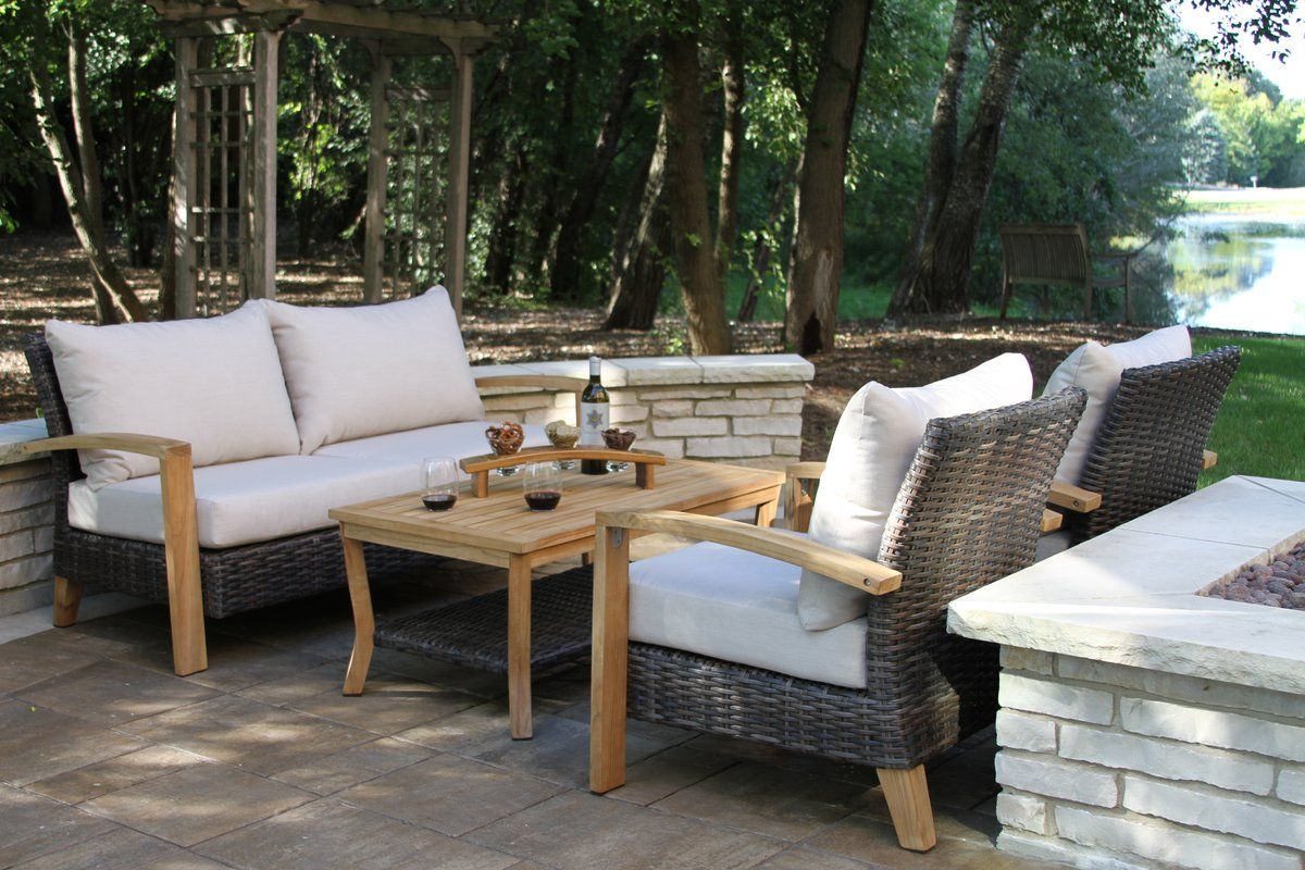 marino wicker teak sofa seating group with sunbrella cushions in rh pinterest com