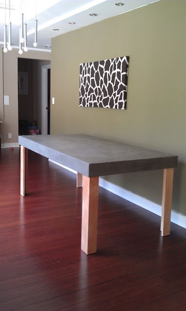 Faux Concrete Dining Table