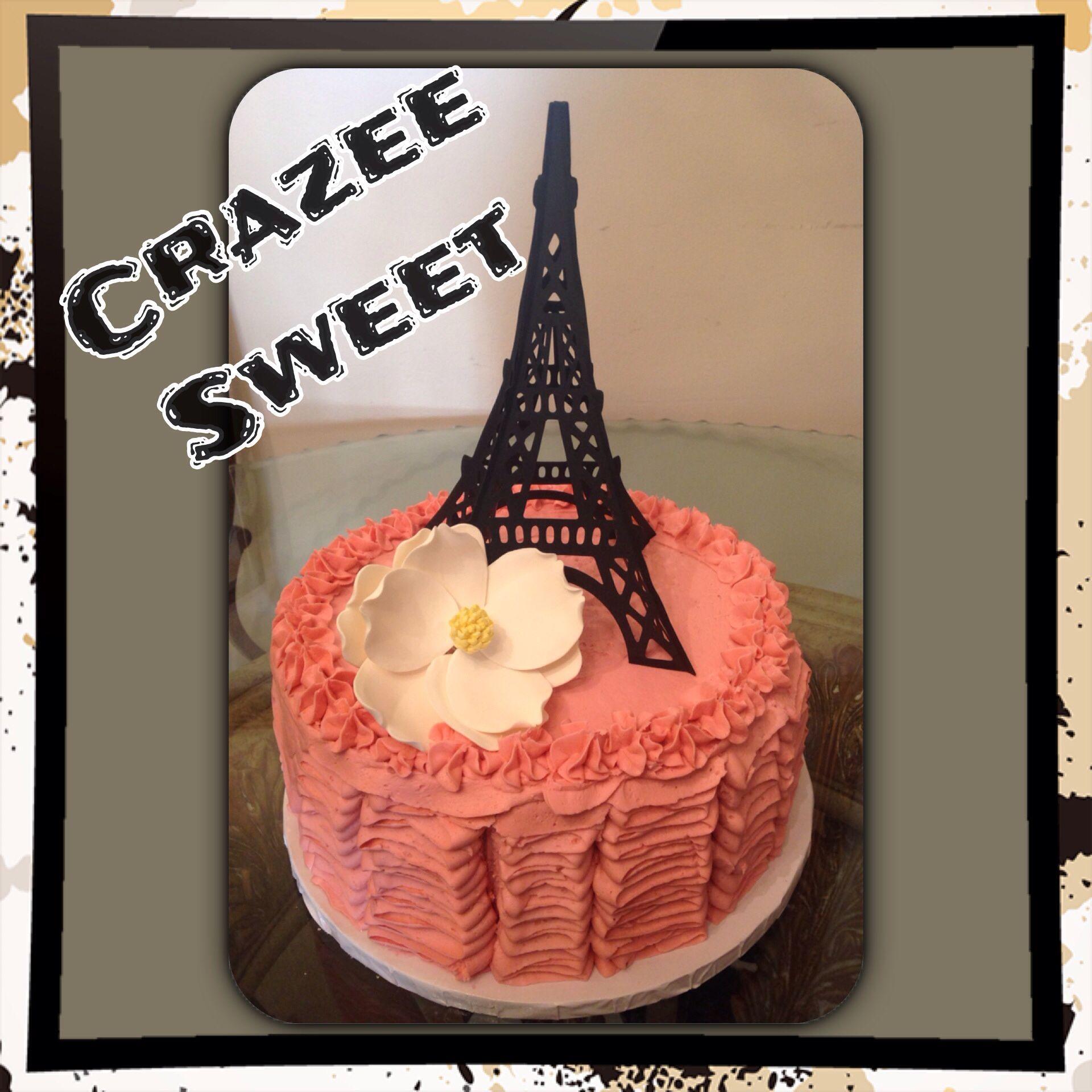Ruffled Vanilla buttercream on Vanilla Rum cake Cake toppers gum