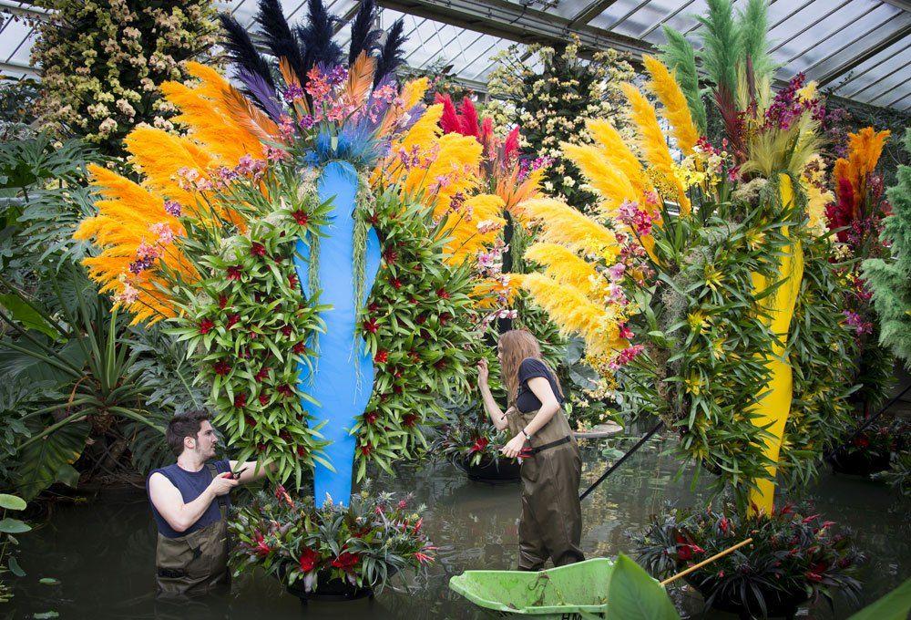 Homenaje floral al Carnaval de Río