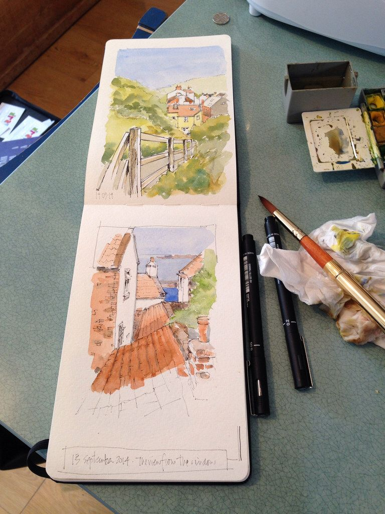 Sketches In My Moleskine Landscape Sketch Sketches Travel Art