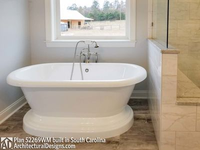 Farmhouse Plan 52269wm Comes To Life In South Carolina Photo 038 Bath Ideas Pinterest Plans And