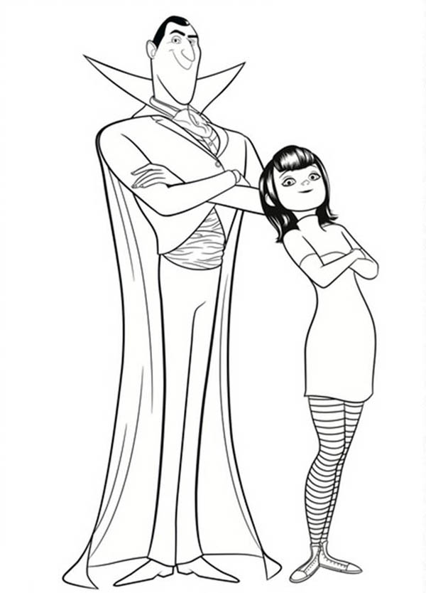 Dracula And His Daughter Mavis From Hotel Transylvania Coloring Pages Bulk Color In 2020 Hotel Transylvania Hotel Transylvania Characters Coloring Pages