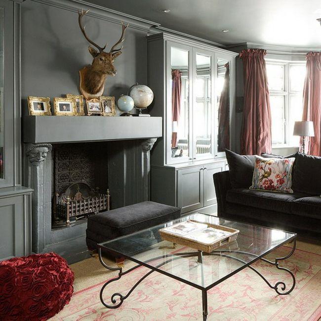 #wohnzimmer Wohnzimmer Mit Kamin Gestalten U2013 43 Ideen Für Wärme Und  Gemütlichkeit #Wohnzimmer #