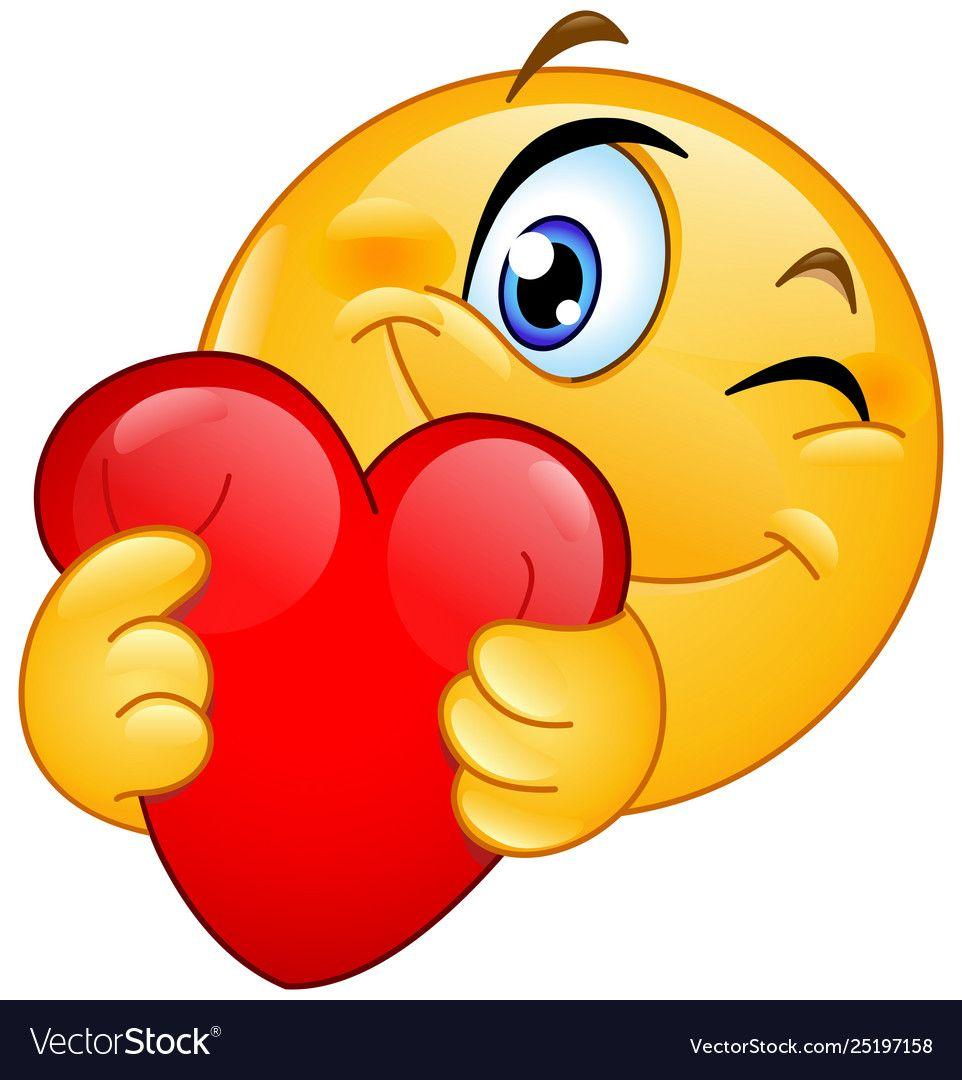 Download Emoticon hugging heart Royalty Free Vector Image   Emoji ...