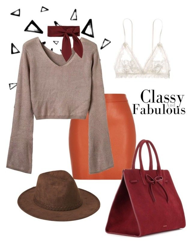 """fall fab"" by isabellxoxo on Polyvore featuring River Island, Hanky Panky, Aéropostale, Mansur Gavriel, Nika, WithChic and Chloé"
