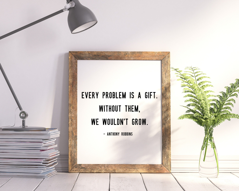 Anthony Robbins Print Tony Robbins Wall Print Life Quote   Etsy