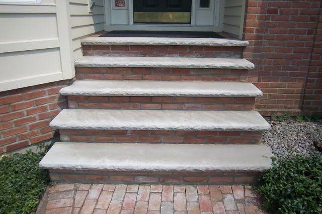 Brick Front Steps Complete Makeover Brick Steps Front Steps