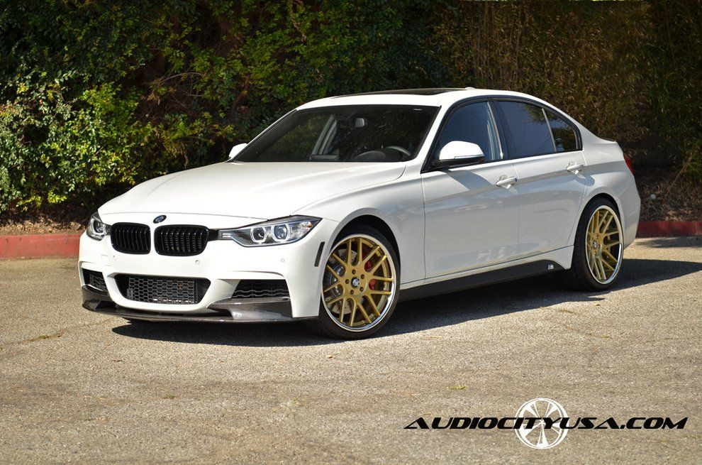 White Bmw 3 Series With Gold And Chrome Lip Gianelle Yerevan