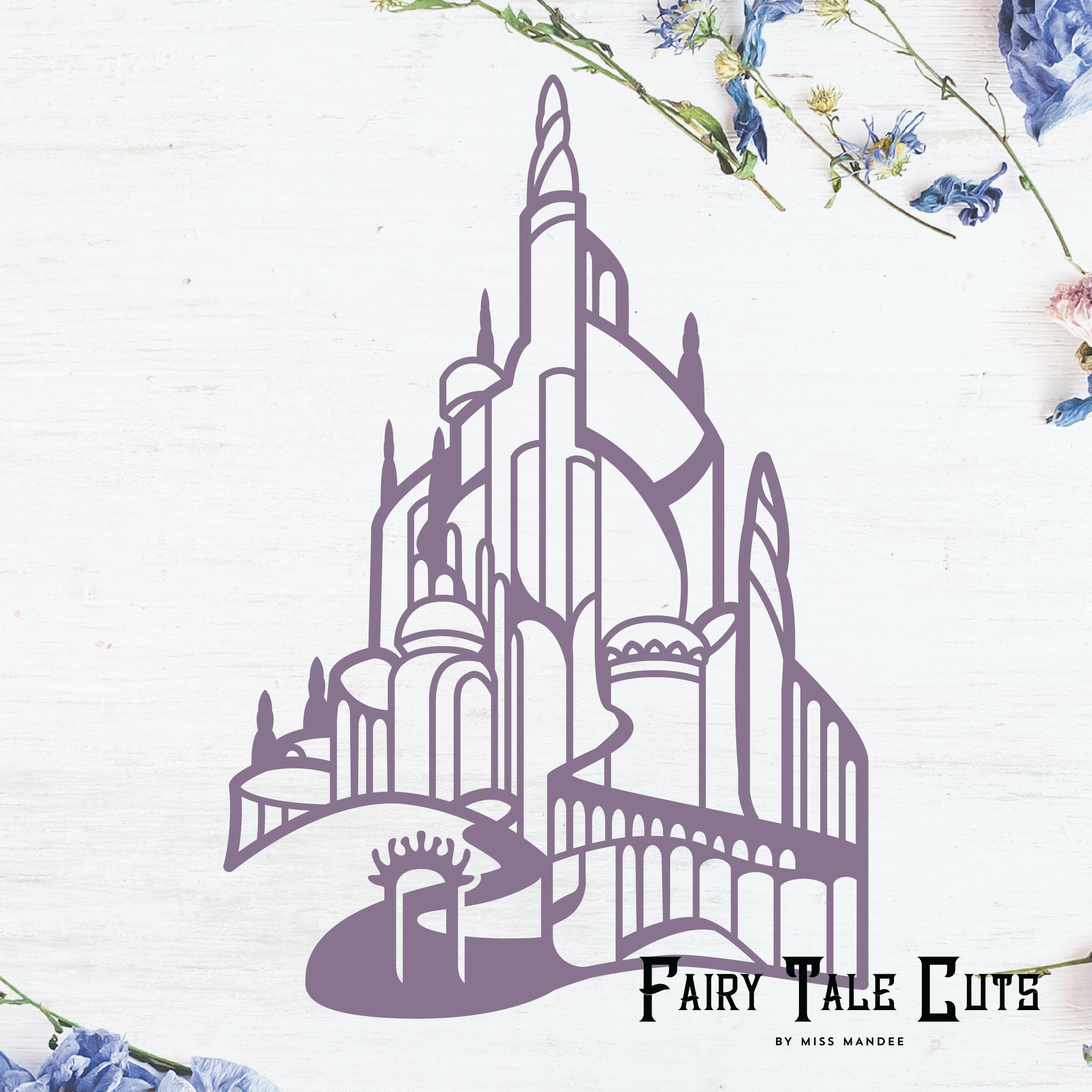Ariel S Castle King Triton S Castle Little Mermaid Inspired File Design Little Mermaid Castle Ariel Castle Castle Silhouette