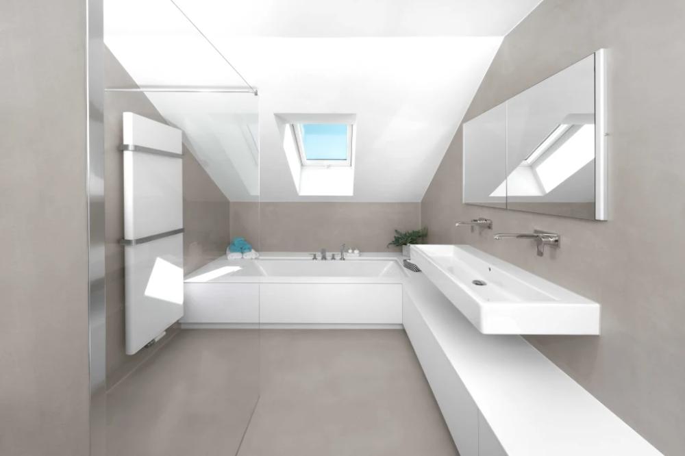 Fugenloses Bad Minimalistische Badezimmer Von Grimm Architekten Bda Minimalistisch Stahlbeton Homify In 2020 Fugenloses Bad Badgestaltung Badezimmer