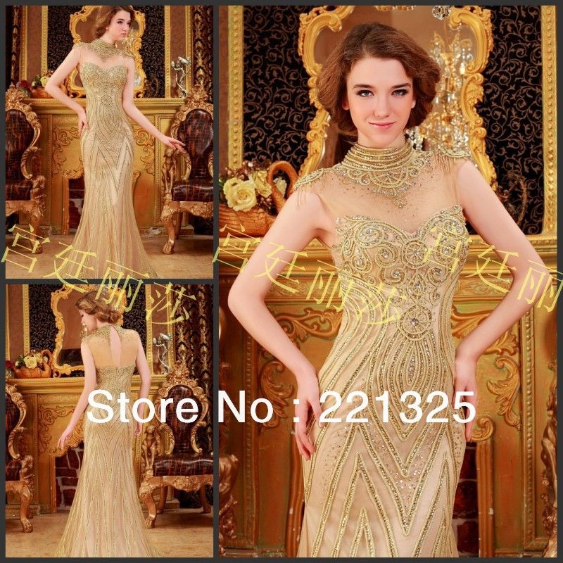 Free Shipping 2013 Wedding Dress Luxury Fishtail Dress