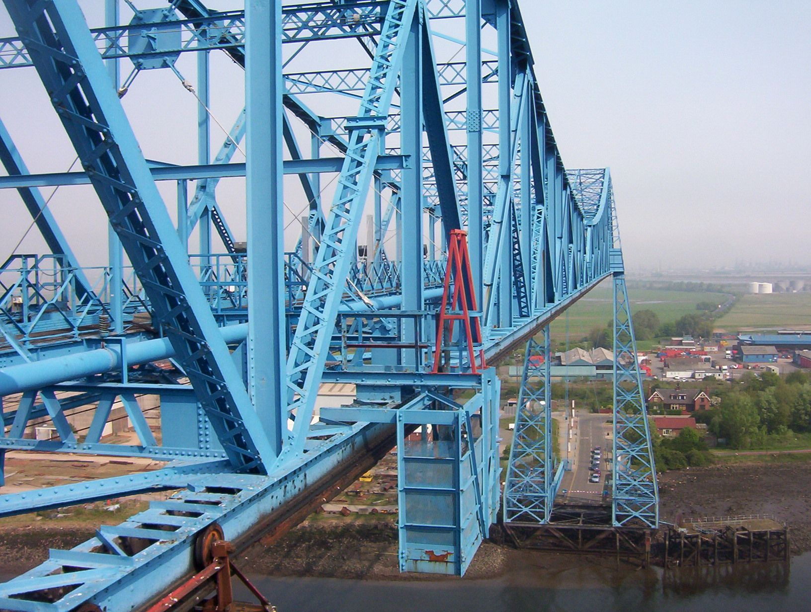 Transporter Bridge Top Teesside Bridge River Mouth Brooklyn