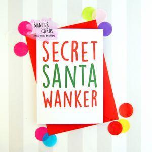 Secret santa wanker christmas cards pinterest secret santa secret santa wanker secret santa the secret christmas cards greeting cards christmas m4hsunfo