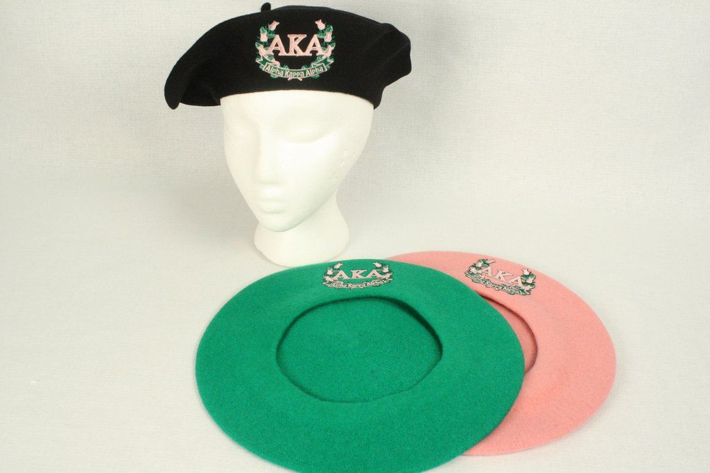 4ec87d8a38333 Alpha Kappa Alpha AKA Laurel Wreath Embroidered Classic French Wool ...