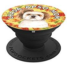 Lhasa Apso Mom Country Chic Floral Design - PopSockets ...