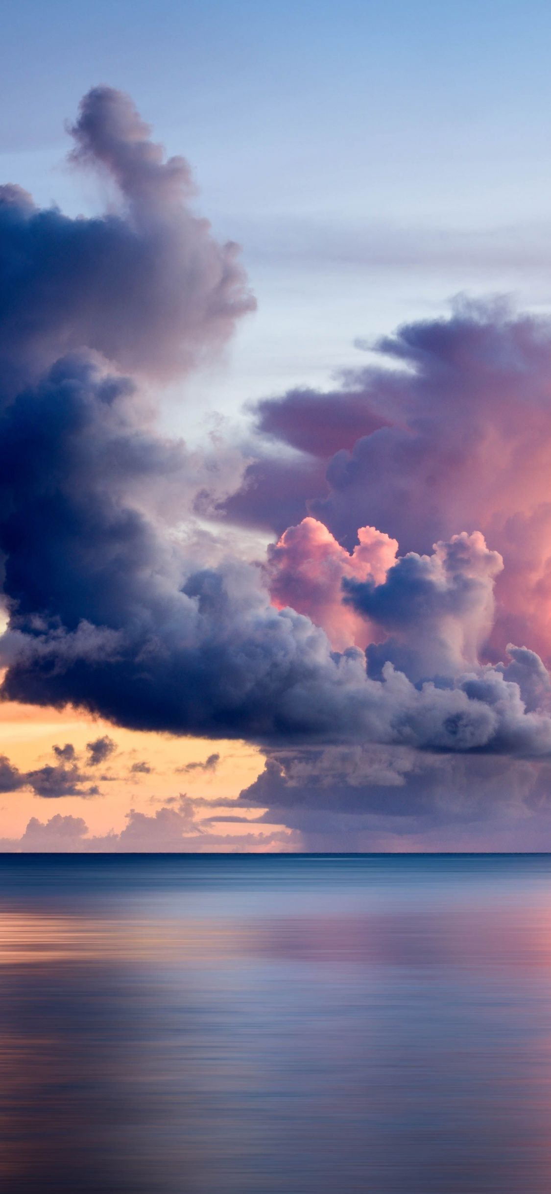 Nature, clouds over the sea, body of water, calm, sky