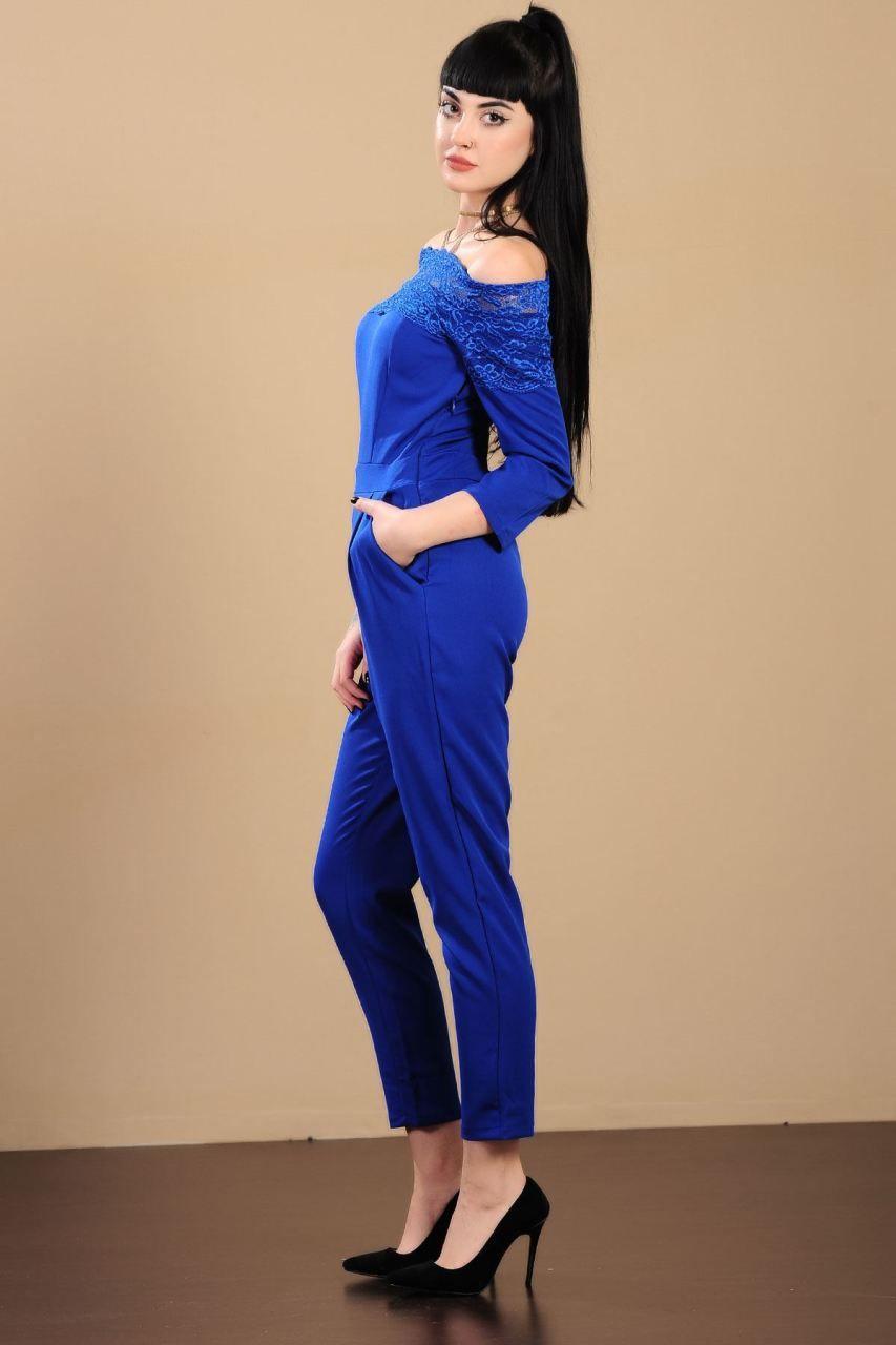 2e95cafffc5d0 Dantel Kayık Yaka Saks Mavisi Tulum #giyim #indirim #kampanya #bayan #erkek  #bluz #gömlek #trençkot #hırka #etek #yelek #mont #kaşe #kaban #elbise # abiye ...