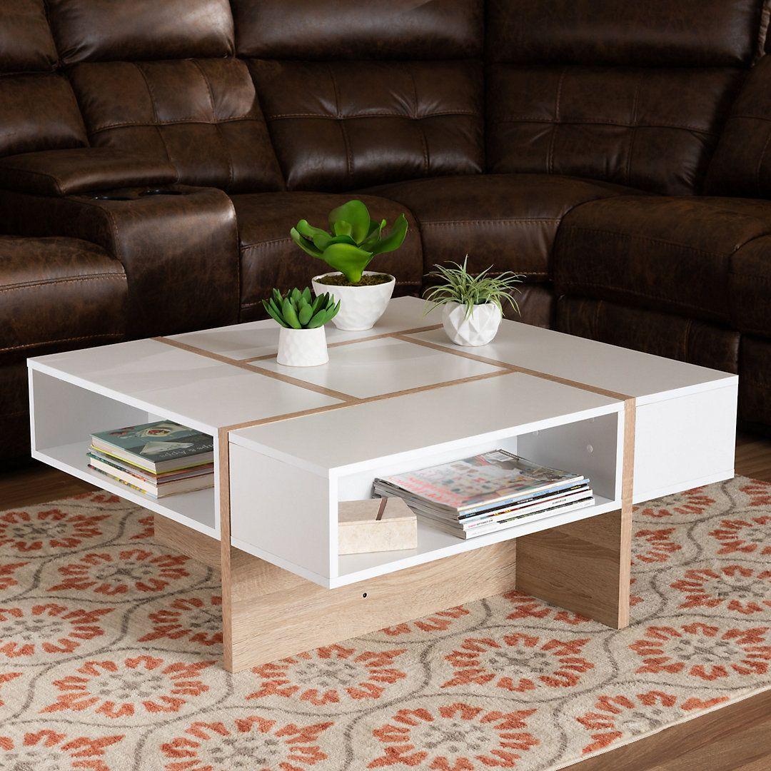 Southern Enterprises Jahora Round Coffee Table Coffee Table Coffee Table With Storage Round Coffee Table [ 1024 x 1024 Pixel ]