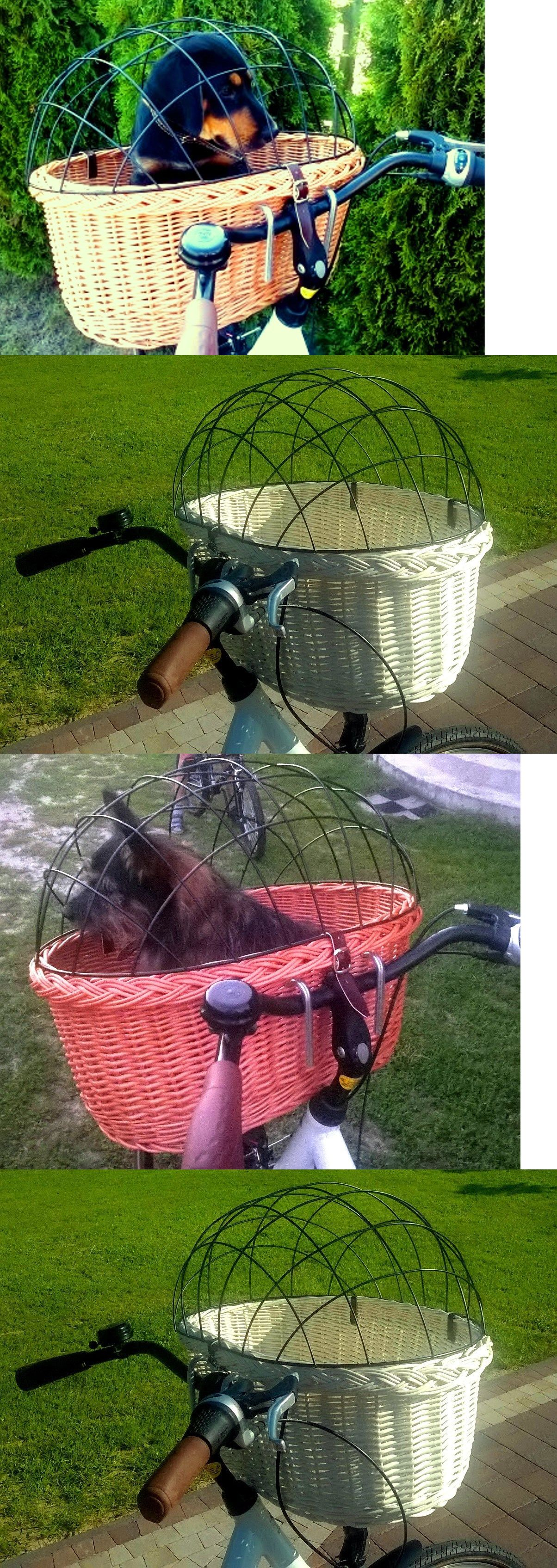 Xl dog basket bicycle handlebar wicker for cat front in