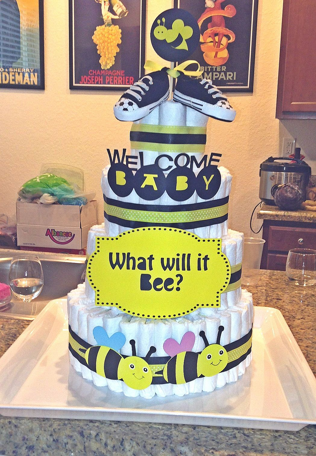 What Will It Bee Diaper Cake