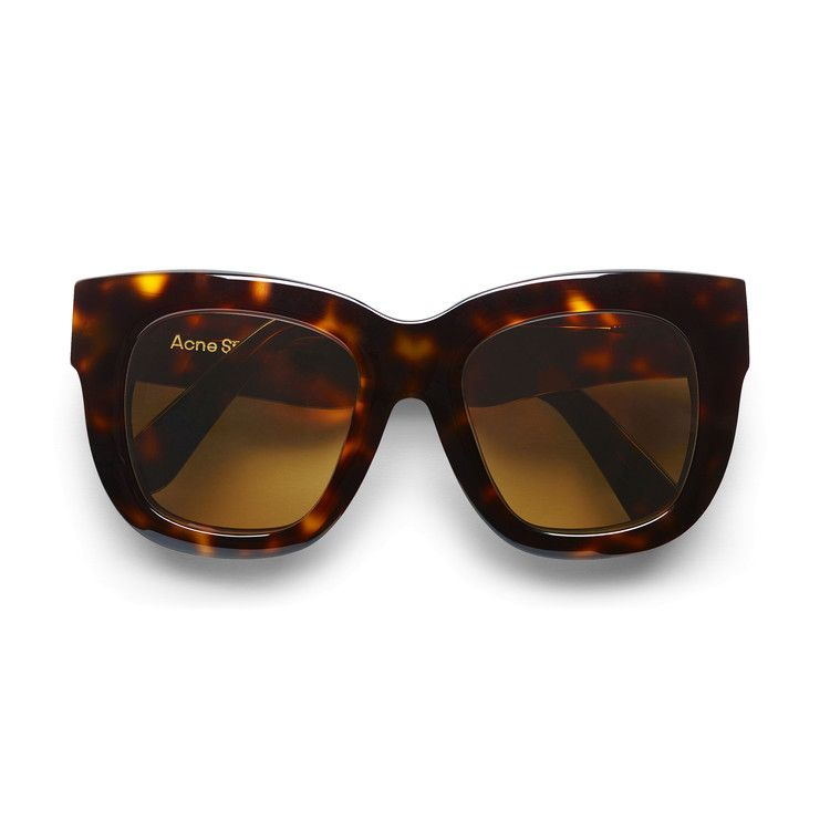Acne Studios Library tortoise light brown are handmade large square frame  acetate sunglasses. e6f22cc1932