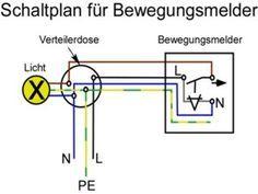 Schaltplan für Bewegungsmelder mit Schalter   Schaltplan ...