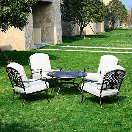 Outsunny 5 Piece Outdoor Patio Fire Pit Seating Set Dee Fire