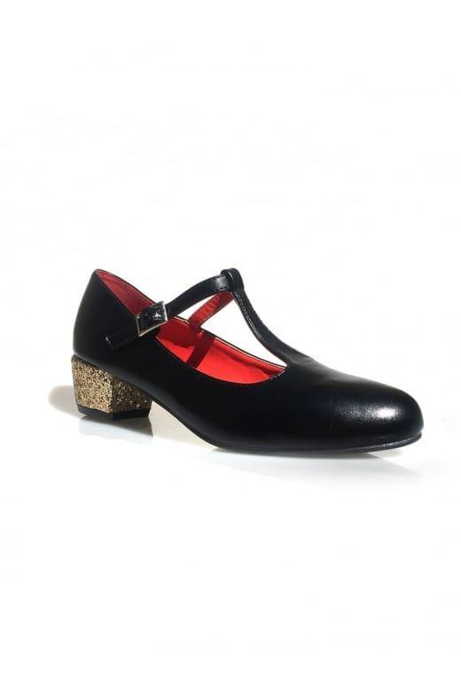 a3e1e992eb2 Lulu Hun Chrissie Glitter Block Heel - Lulu Hun from Collectif UK ...