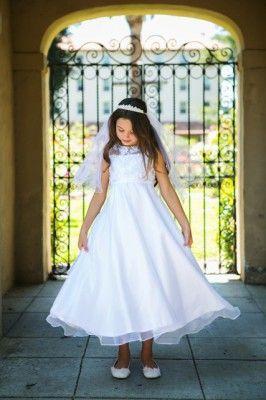 Kleid weiß lang mädchen