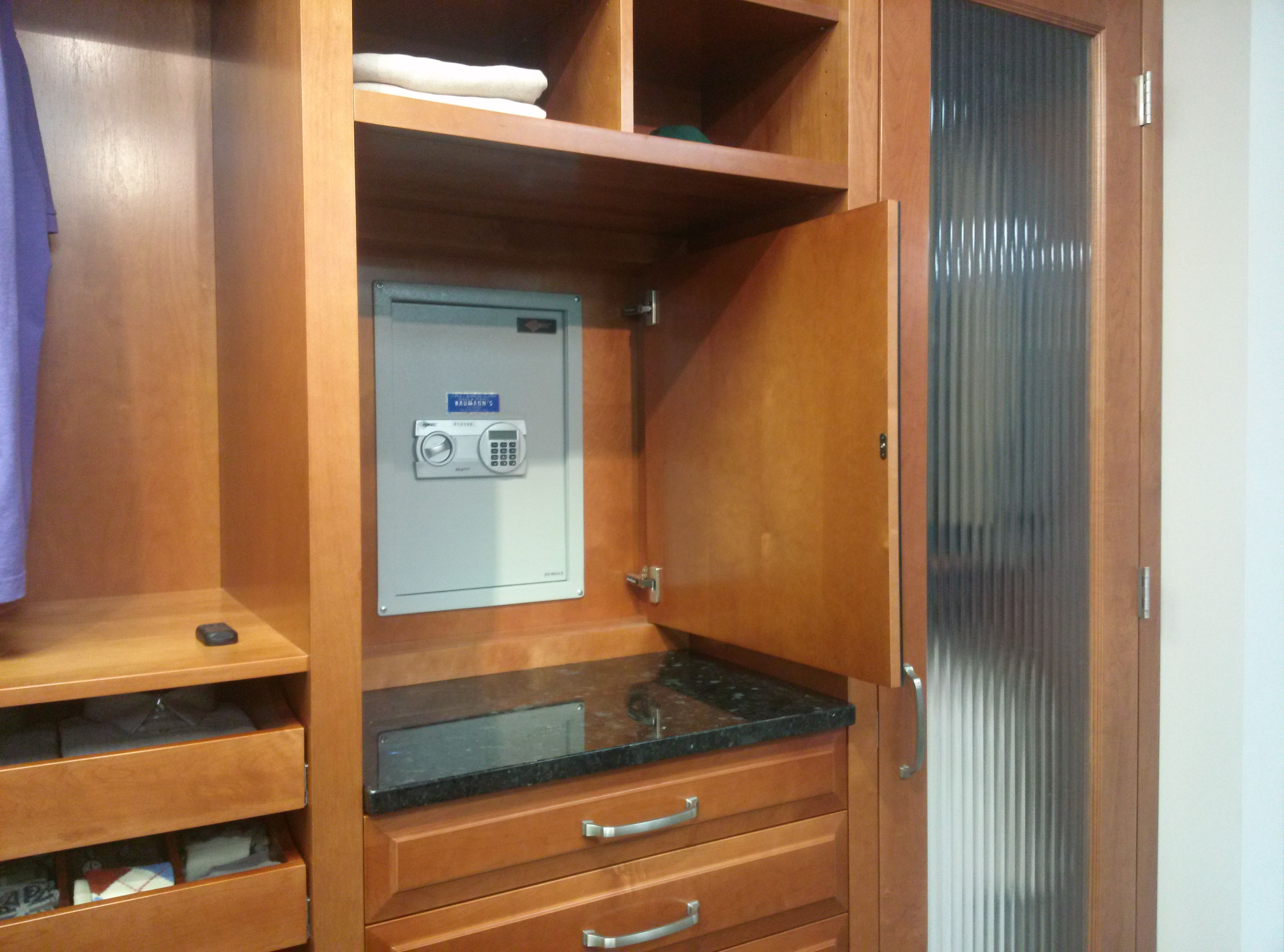 Help dad feel like 007 with this built in safe behind his closet